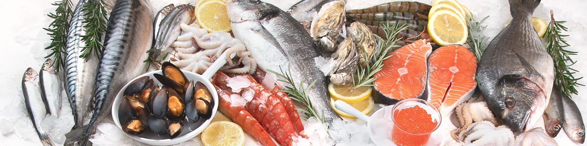 Fisk, skaldjur, rom och musslor